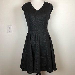 Bar III black metallic sparkle dress medium